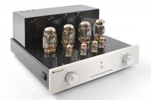 Prologue Premium Integrated Amplifier - silver - front, side with no cover - HR - JPG