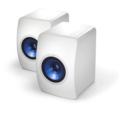 KEF Launch Blue and White LS50