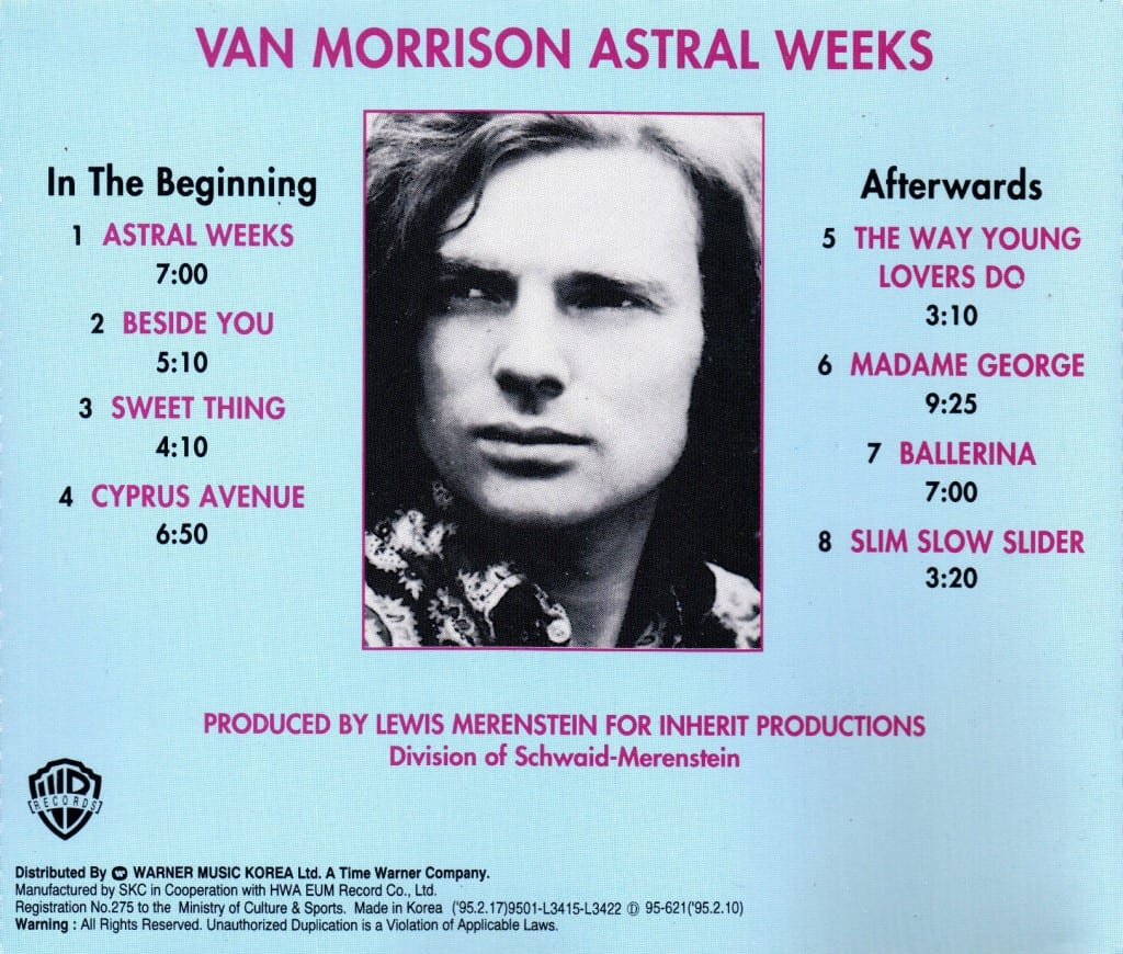 Van Morrison - Astral Weeks (Korea) - Back