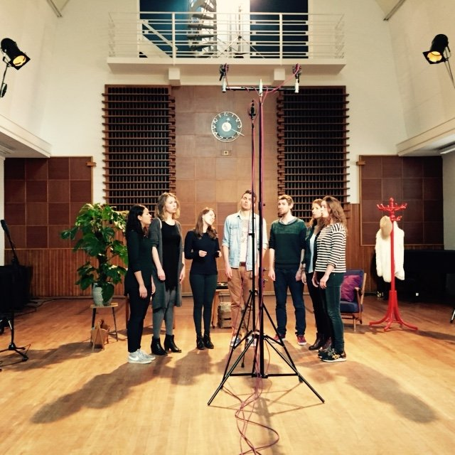 "1). New Amsterdam Voices recording Randy Newman's ""Short People"", March 5th 2015"