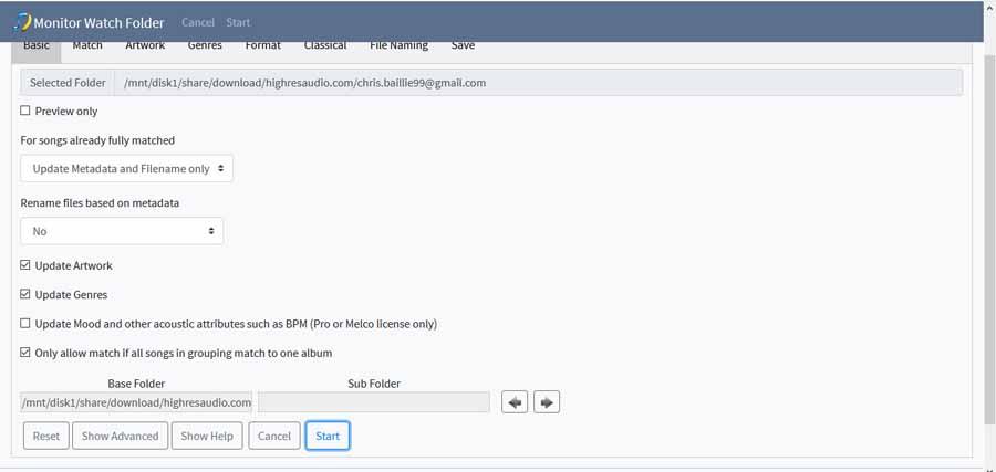 Melco EX Screenshot Watch Folder