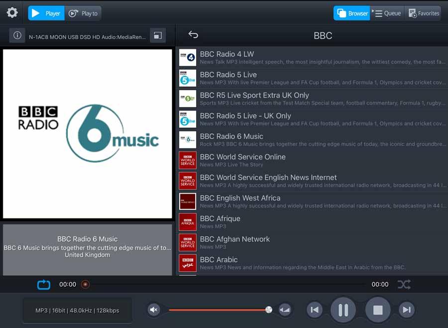 Melco EX screenshot V Tuner