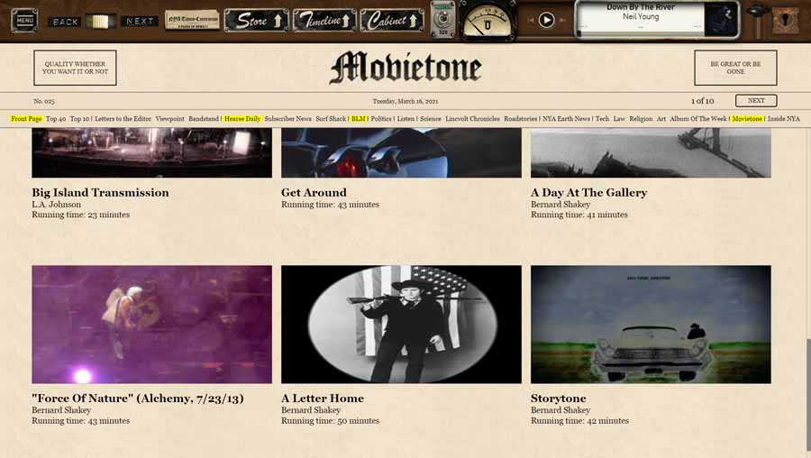 Neil Young Archive Movietone