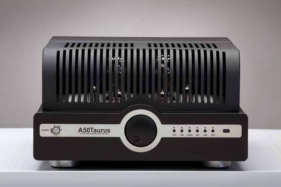 Synthesis A50 Taurus Integrated Amplifier Front with cage