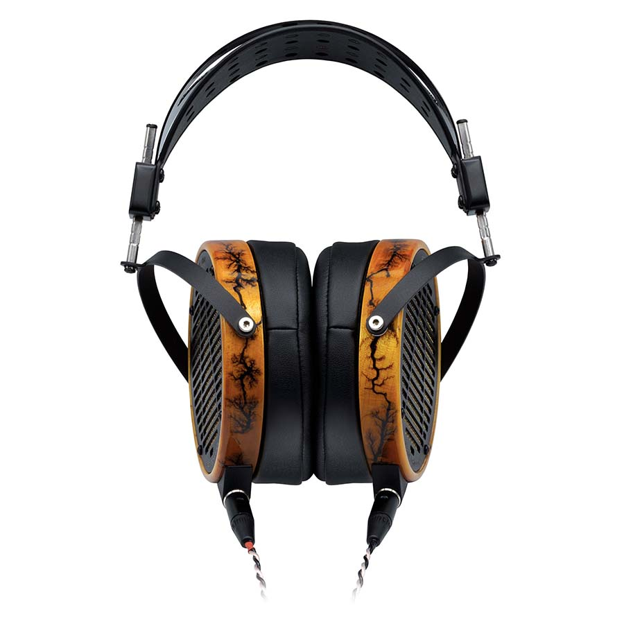 Audeze LCD-R Headphones which come with the Schiit Jotunheim-A Headphone Amp.