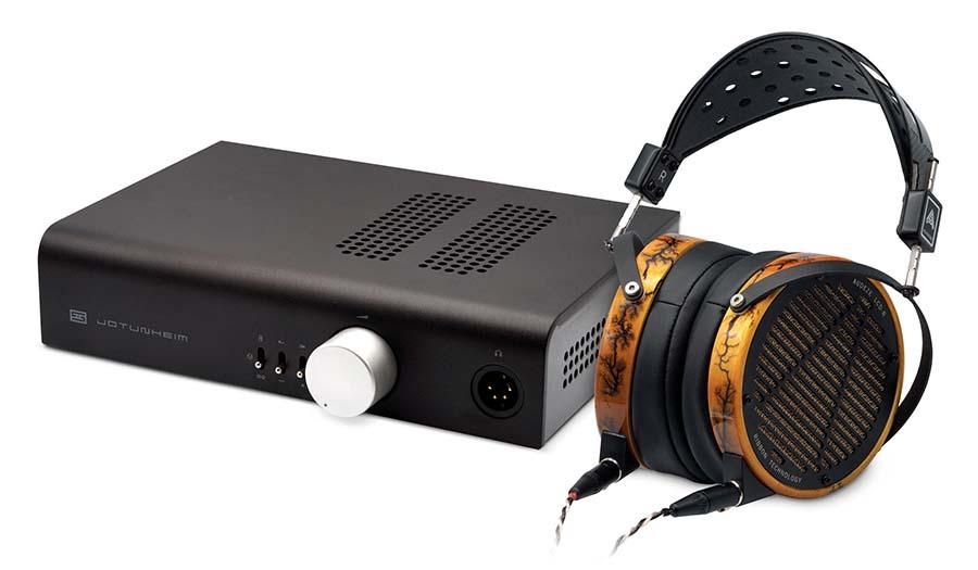 Audeze LCD-R Headphones come with the Schiit Jotunheim-A Headphone Amp.