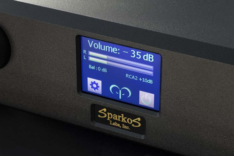 Sparkos Labs Headphone amp screen