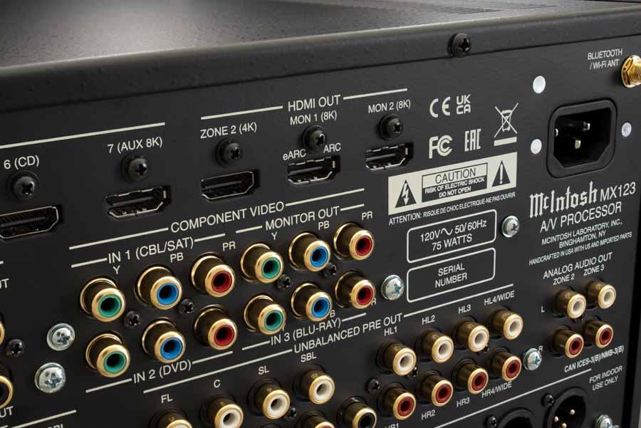 McIntosh MX123 AV Processor 8K Upgrade